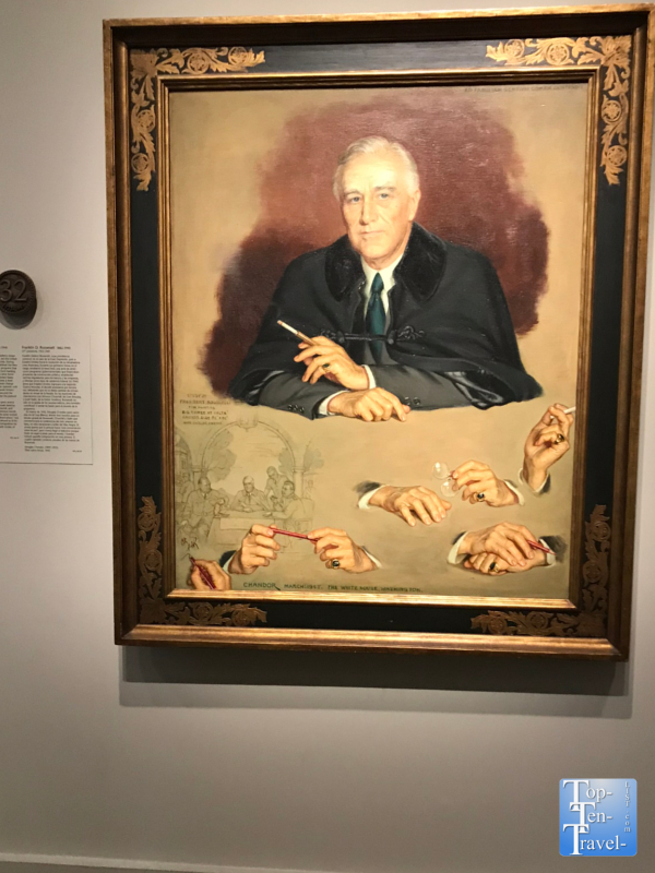 Franklin D. Roosevelt portrait at the Smithsonian Portrait Gallery in DC