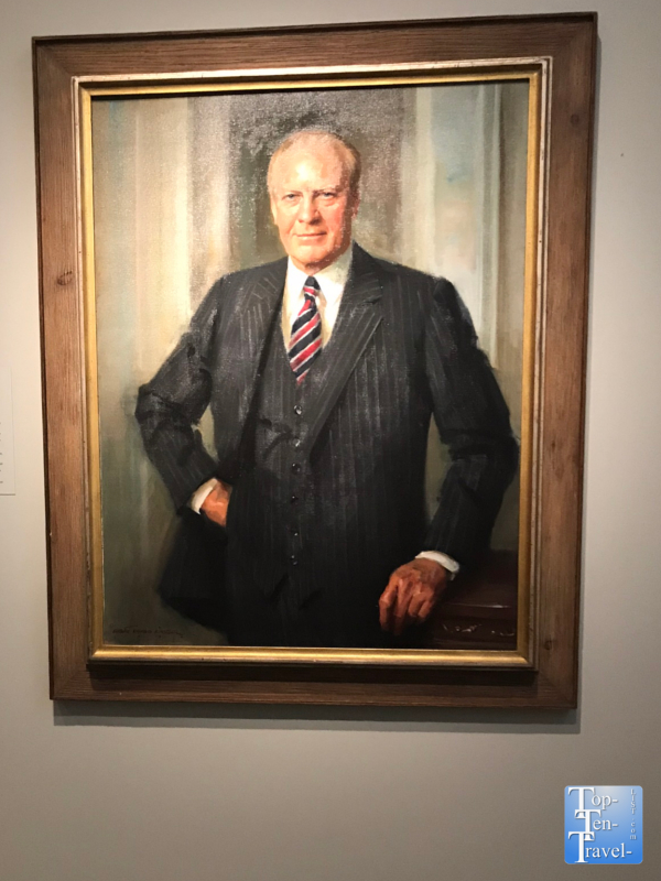 Gerald Ford portrait at the Smithsonian Portrait Gallery in DC