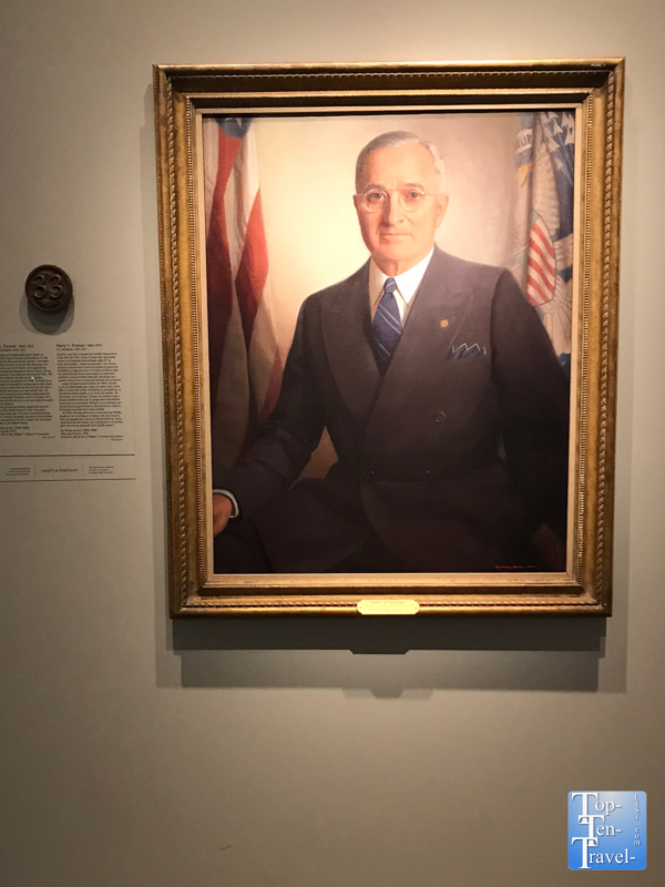 Harry S. Truman portrait at the Smithsonian Portrait Gallery in DC