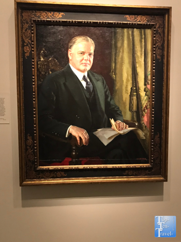 Herbert Hoover portrait at the Smithsonian Portrait Gallery in DC
