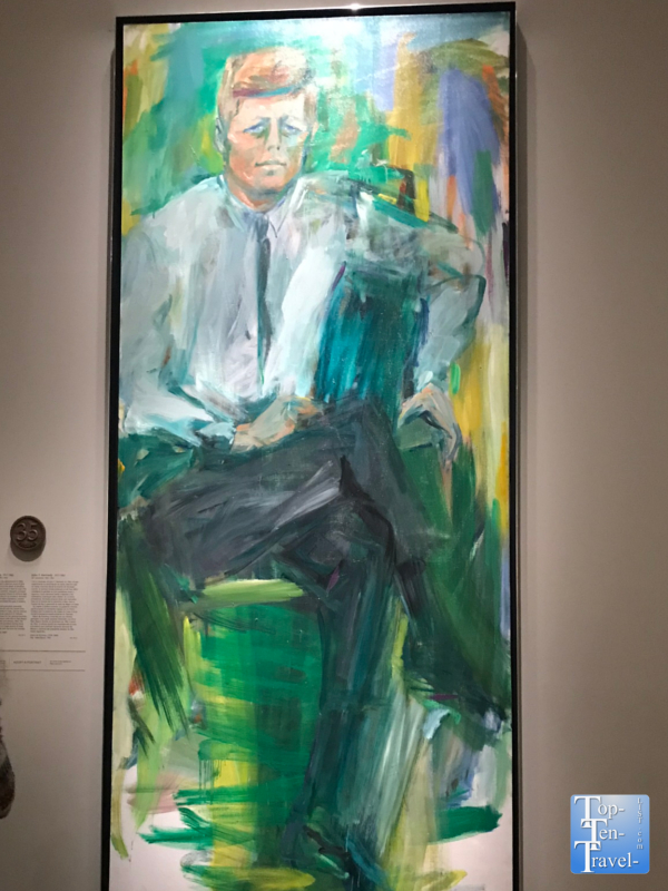 JFK portrait at the Smithsonian Portrait Gallery in DC