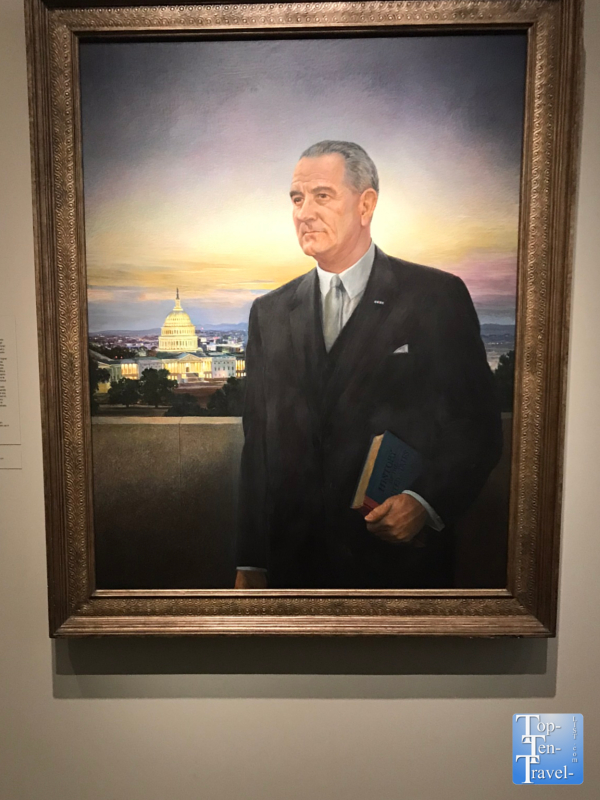 Lyndon B. Johnson portrait at the Smithsonian Portrait Gallery in DC