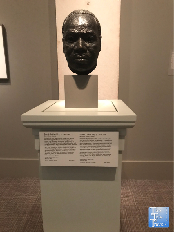 Martin Luther King sculpture at the Smithsonian Portrait Gallery in DC