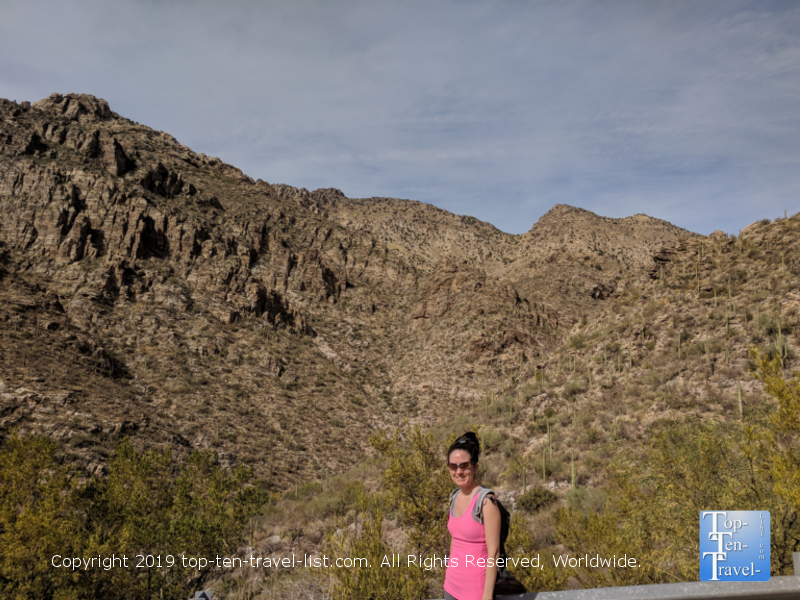 Pretty overlook at Sabino Canyon in Tucson, Arizona