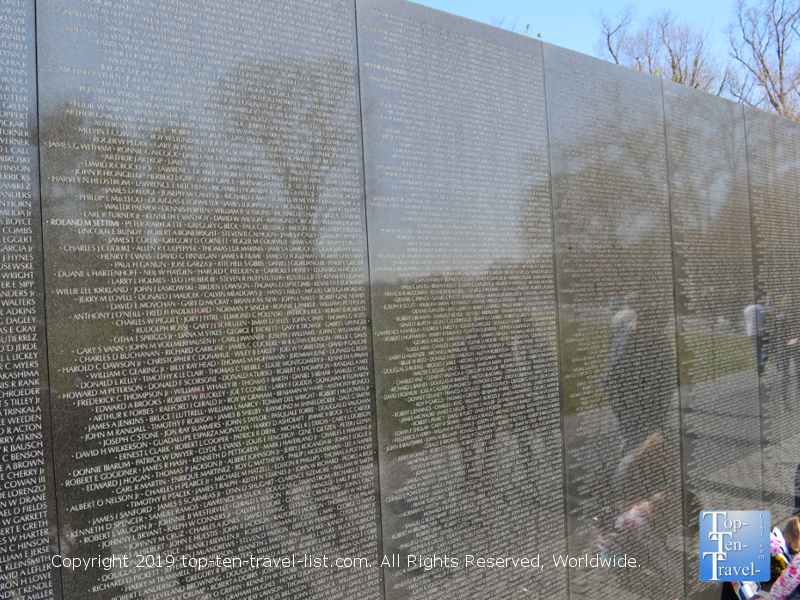 Vietnam Veterans memorial in DC