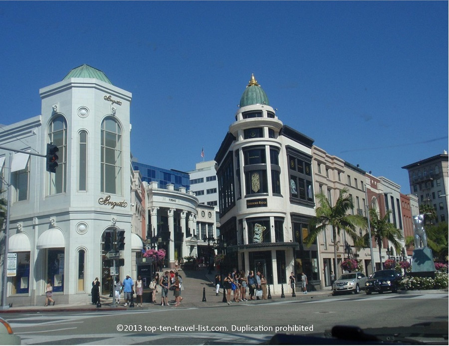 Luxury shops of Rodeo Drive