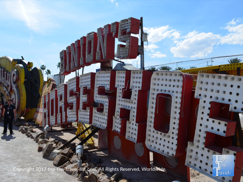 Binion's Horseshoe sign at the Neon Museum in Vegas