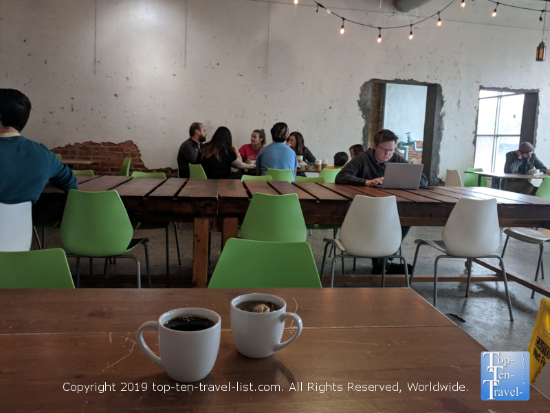 Coffee at Hodgepodge in Atlanta, Georgia