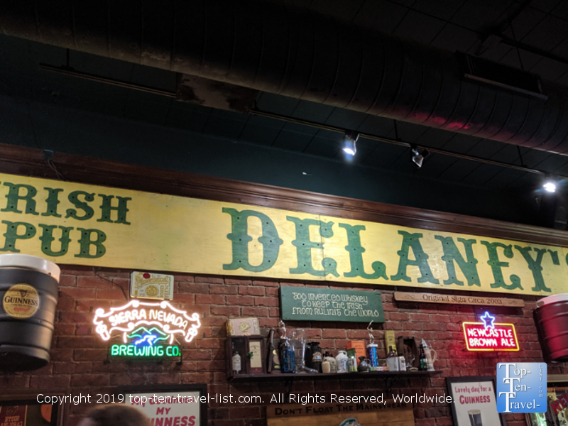 Delaney's Irish Pub in downtown Spartanburg, South Carolina