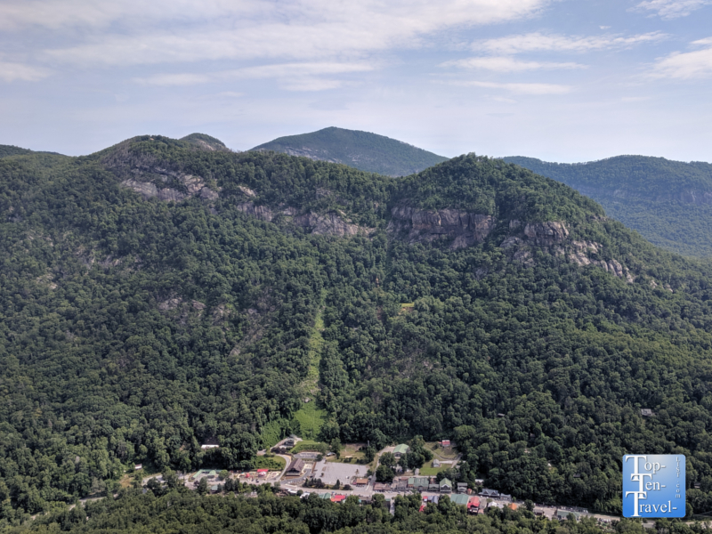 Devil's Head overlook at Chimney Rock State Park