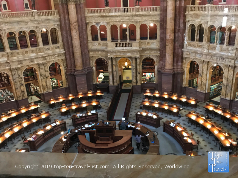 The beautiful Library of Congress in DC