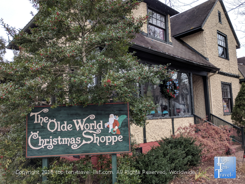 Olde World Christmas Shoppe in Asheville, North Carolina