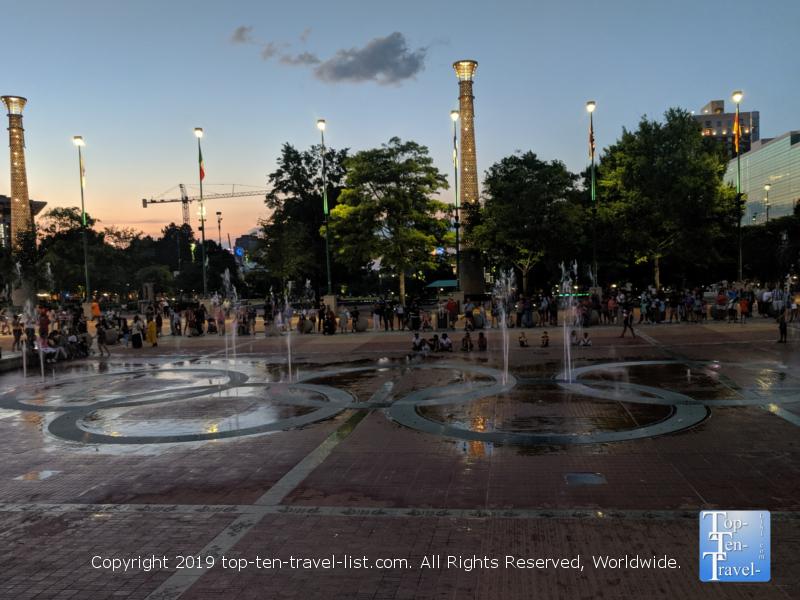 Fountain show at Centennial Olympic Park in Atlanta, Georgia