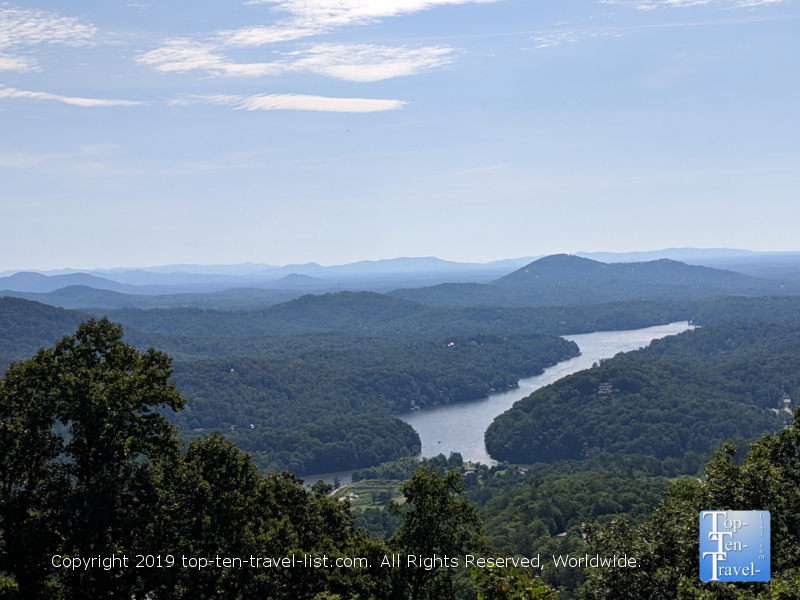 Serene views of Lake Lure from Chimney Rock