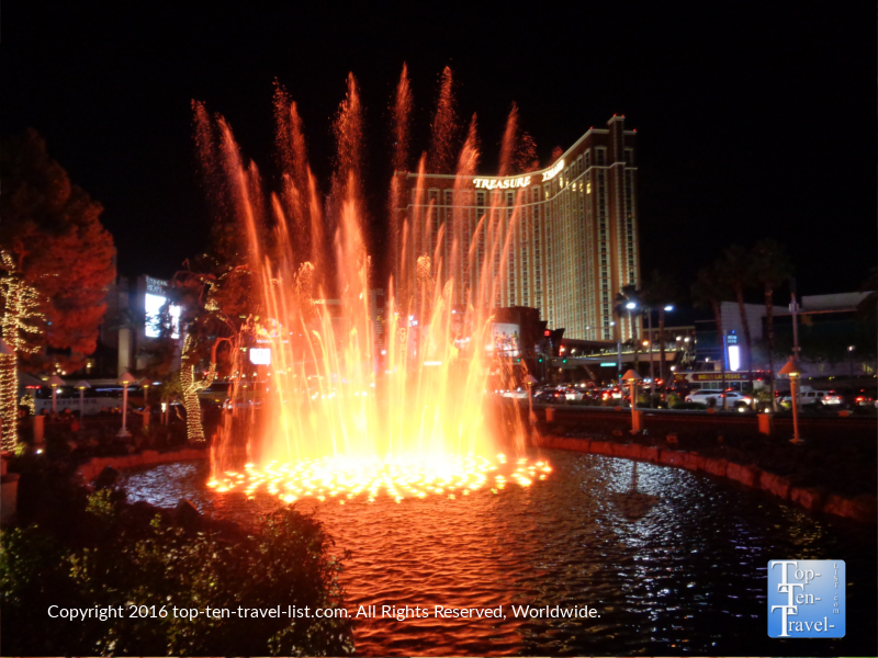 The Wynn fountain show in Las Vegas