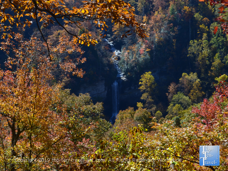 Raven cliff Falls at Caesars Head State Park in South Carolina