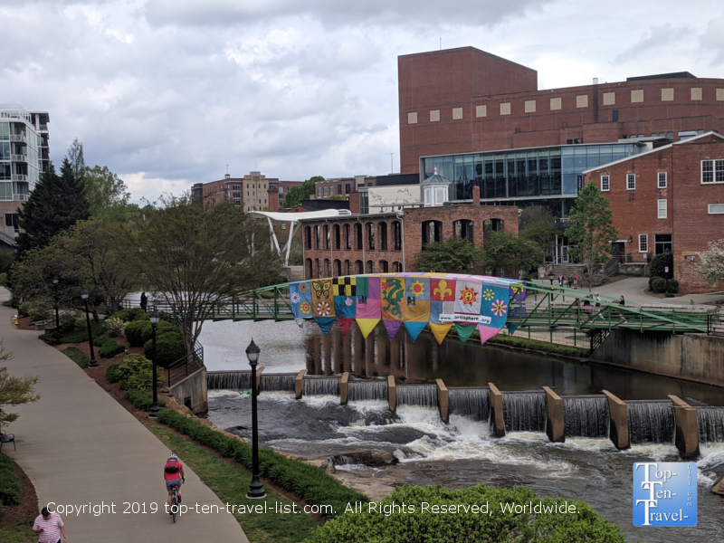 The Swamp Rabbit trail in downtown Greenville, South Carolina