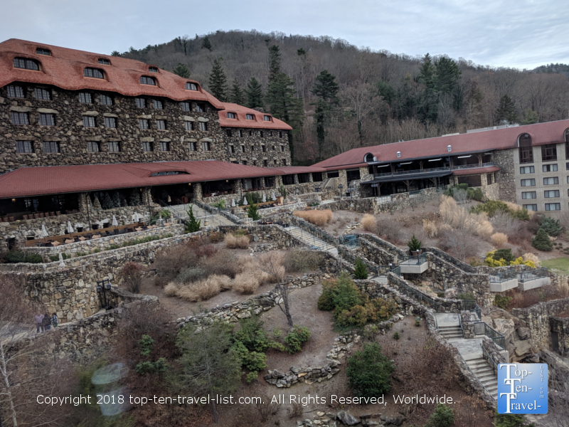 The gorgeous Omni Park Grove Inn in Asheville, North Carolina