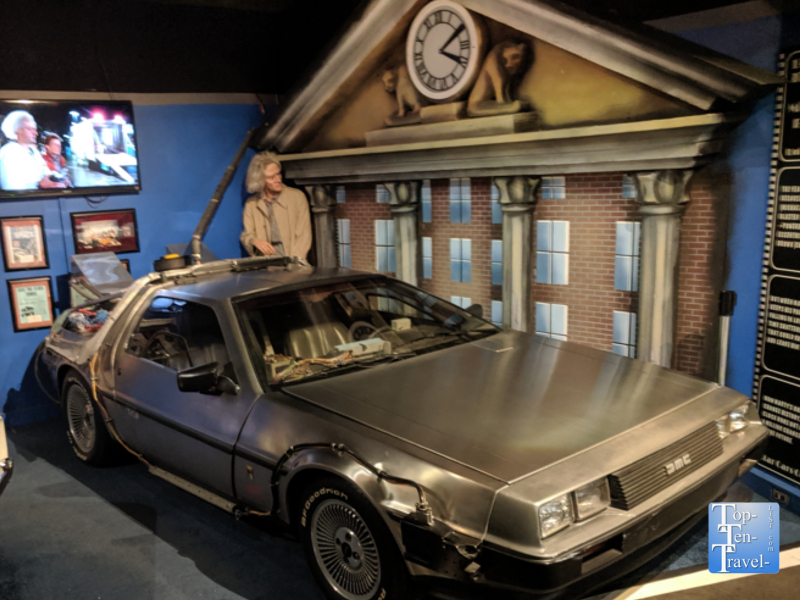 DeLorean from Back to the Future at the Hollywood Cars Museum in Gatlinburg, TN