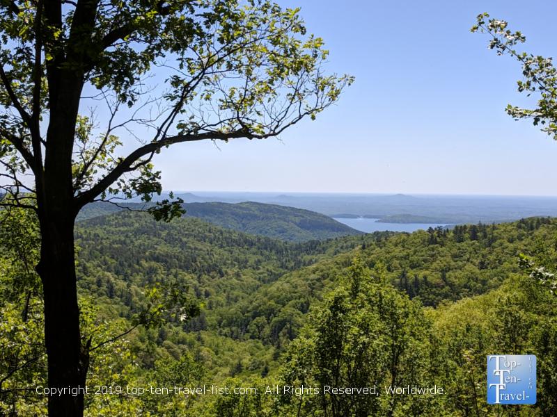 Beautiful overlook of the Blue Ridge mountains
