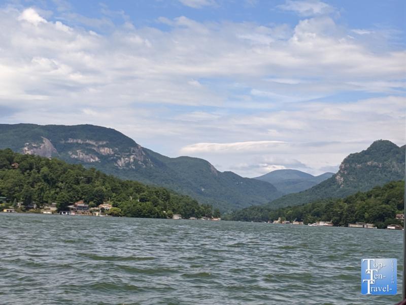 Beautiful views at Lake Lure in North Carolina