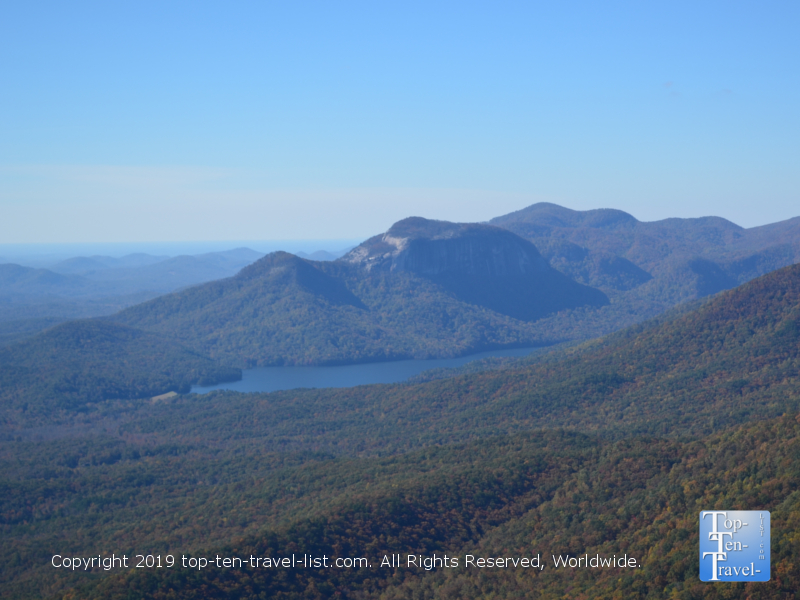 Gorgeous panoramic views of the Blue Ridge mountains from Caesar's Head State Park in South Carolina