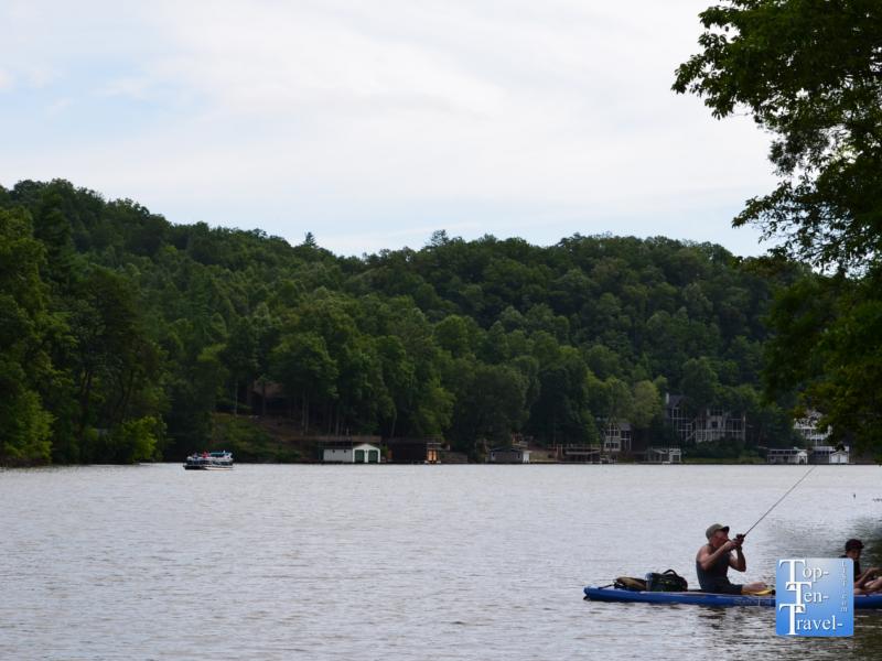 Fishing on Lake Lure