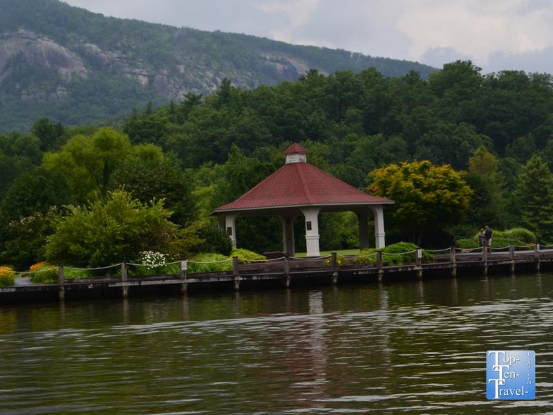 Gazebo at Morse Park in Lake Lure, North Carolina