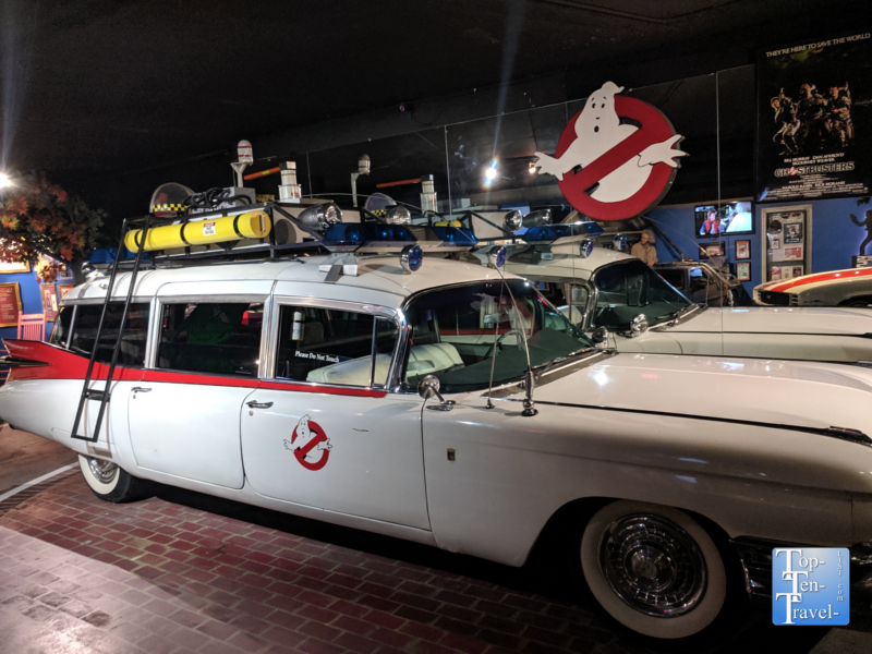 Ecto-1 from Ghostbusters at the Hollywood Cars Museum in Gatlinburg, TN