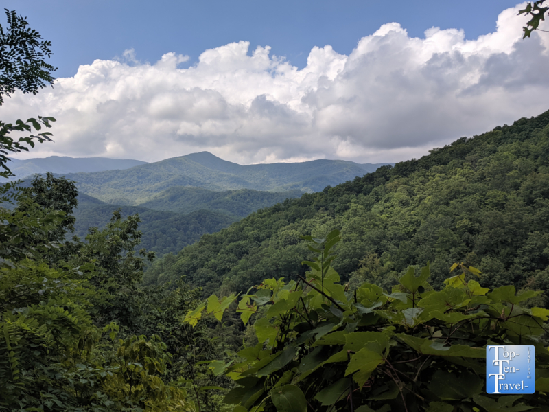Gorgeous overlook of the Smoky Mountains in Gatlinburg, Tennessee