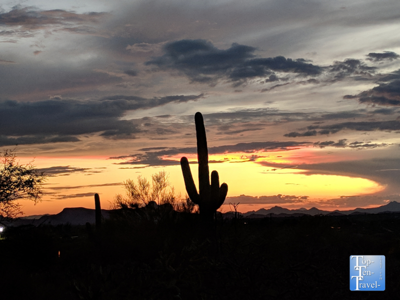 Breathtaking sunset in Tucson, Arizona