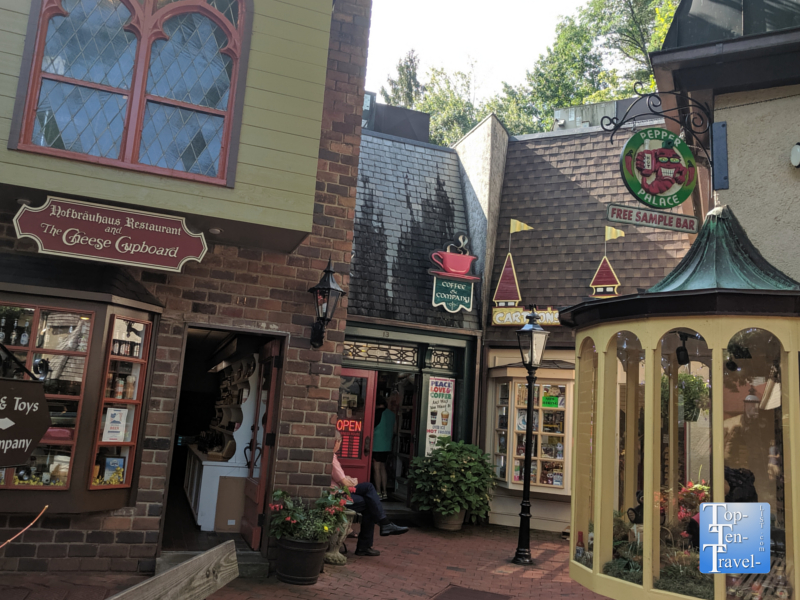 Charming ambiance at the Village Shops in Gatlinburg, TN