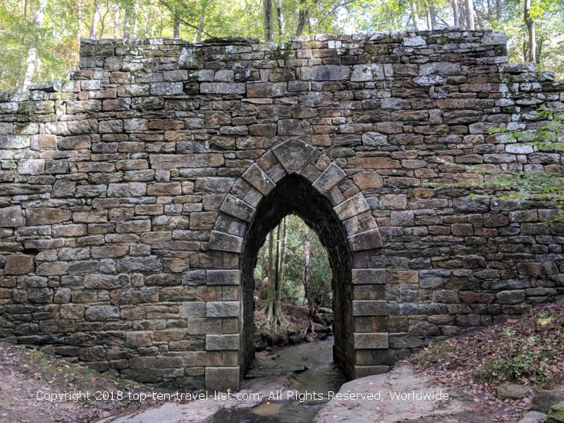 Historic Poinsett Bridge in Upstate South Carolina