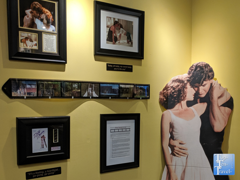 Dirty Dancing movie memorabilia at the Lake Lure visitor's center