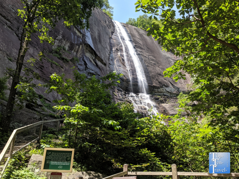 Hickory Nut Falls at Chimney Rock State Park in North Carolina
