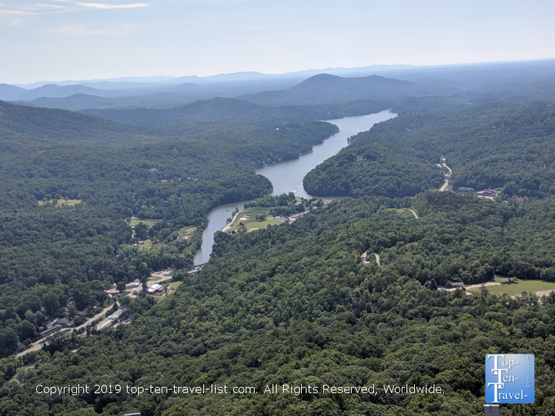 Incredible views of the Blue Ridge region from the Chimney Rock overlook in North Carolina