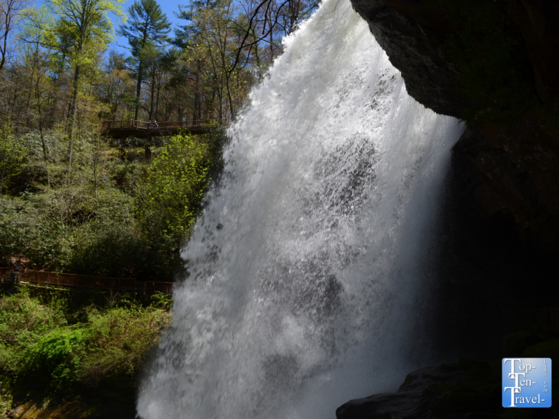 Powerful Dry Falls in Western North Carolina