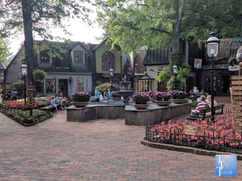 Bavarian inspired Village Shops in Gatlinburg, Tennessee