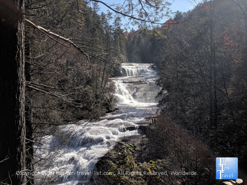 Triple Falls trail at Dupont State Forest in Western North Carolina