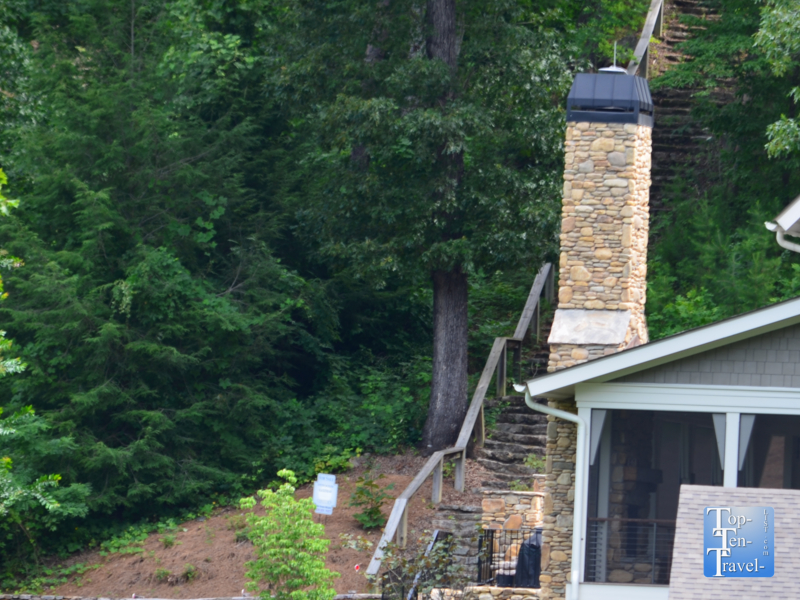 The stairs Baby danced on in Dirty Dancing in Lake Lure, North Carolina