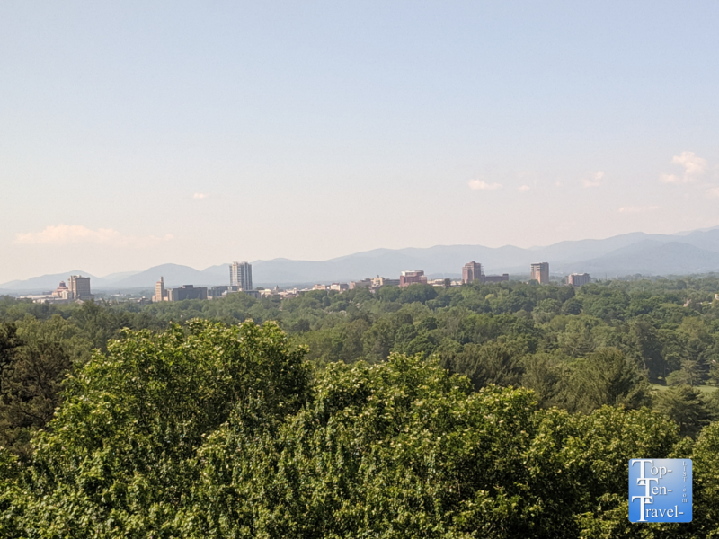 View of Asheville from the Omni Park Grove Inn
