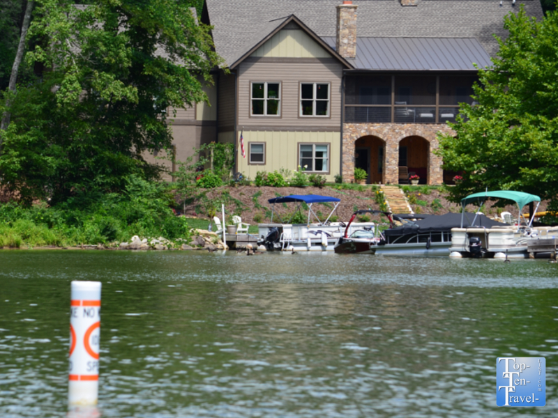 Filming site of the Dirty Dancing water scenes on Lake Lure in North Carolina
