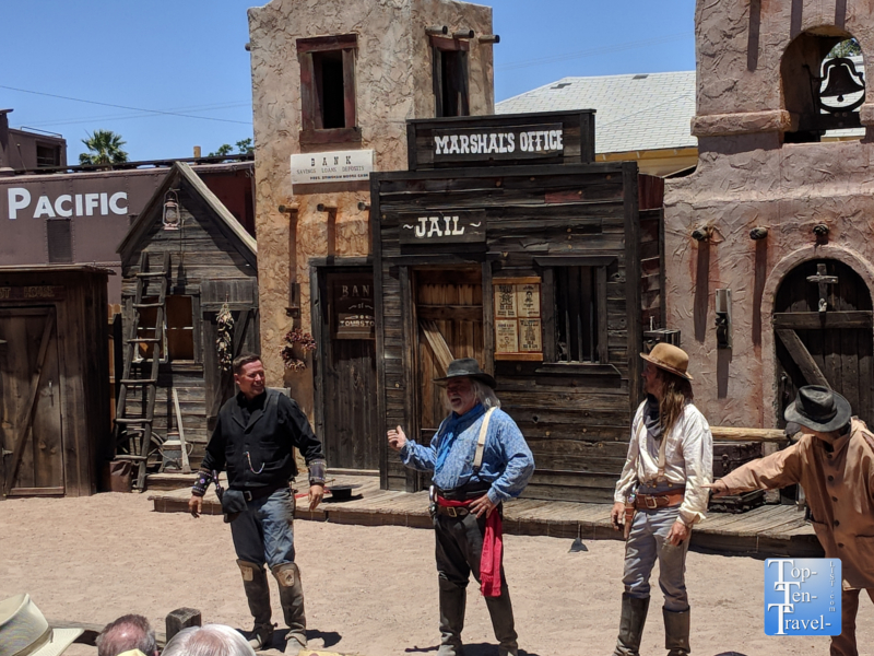 Wild west shootout in Tombstone, Arizona