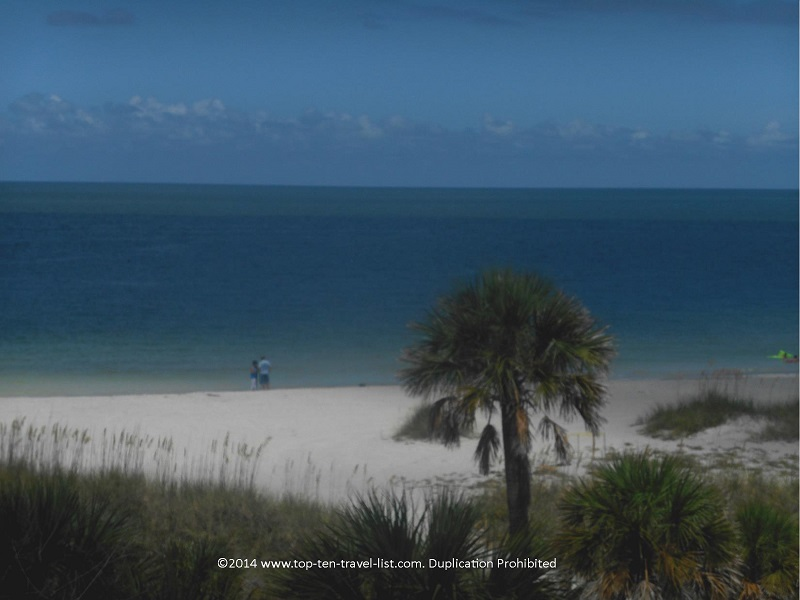 Beach at Fort de Soto State Park in Florida