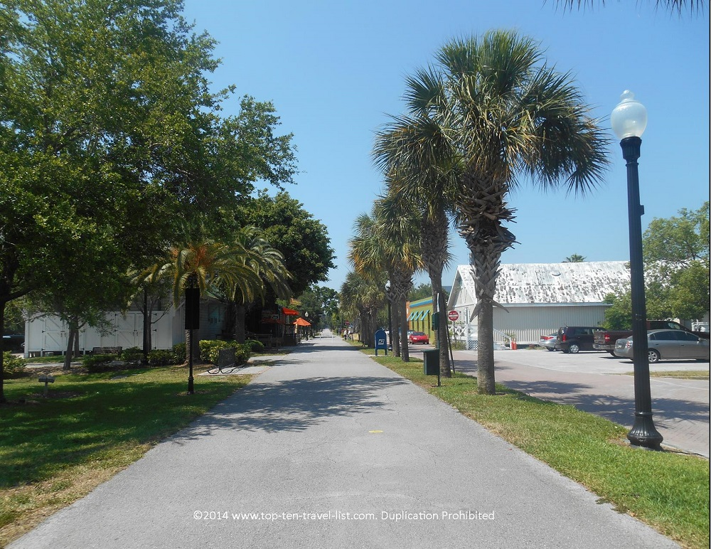 Pinellas trail in downtown Dunedin, Florida
