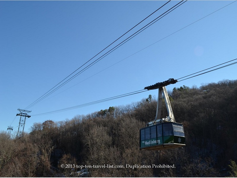 Scenic tram ride in Gatlinburg, TN