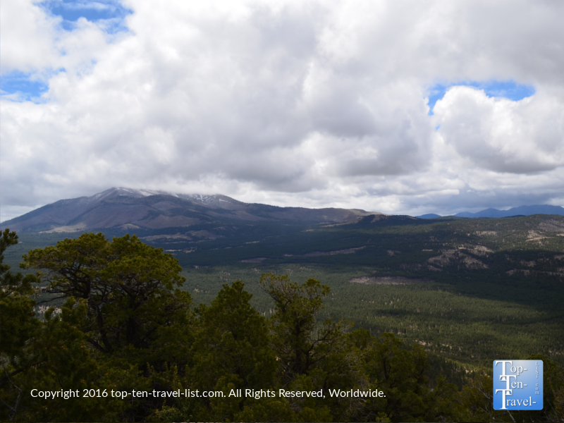 Amazing views of the Peaks from the Slate Mountain trail near Flagstaff, Arizona