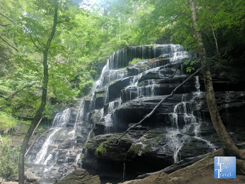 Beautiful Yellow Branch falls in Upstate South Carolina