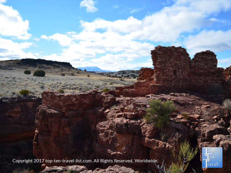 Box Canyon pueblo ruins at Wupatki National Monument in Northern Arizona