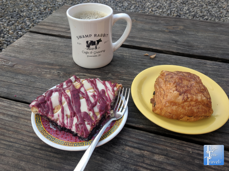 Breakfast at the Swamp Rabbit Cafe in Greenville, South Carolina